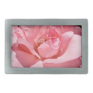 Pink Rose Flower Belt Buckle