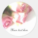 Pink rose flower bouquet wedding stickers