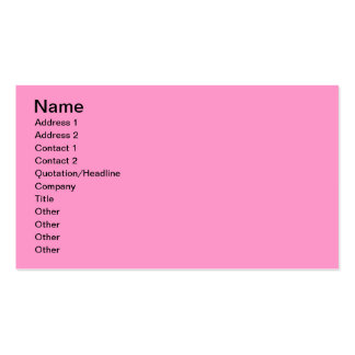 Pink Rose Flower Business Card