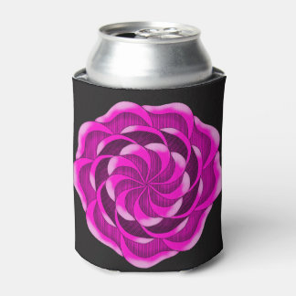 Pink Rose flower Can Cooler