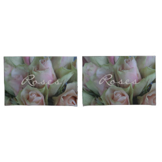 Pink Rose Flower Floral Photography Romantic Pillowcase