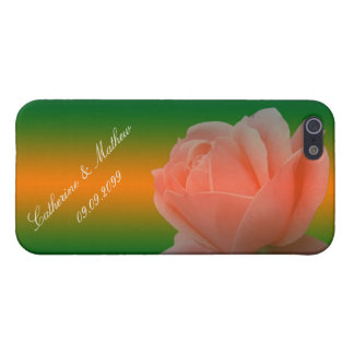 pink rose flower iPhone  case with bride and groom iPhone 5 Covers