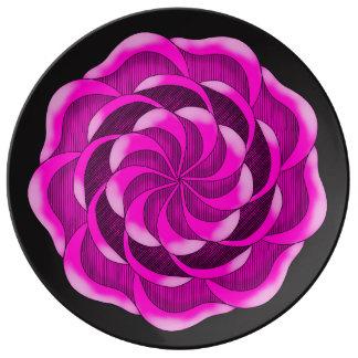 Pink Rose flower Plate