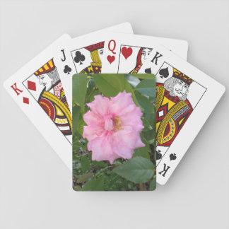 PINK ROSE FLOWER PLAYING CARDS