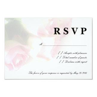 Pink rose flower RSVP wedding cards 9 Cm X 13 Cm Invitation Card