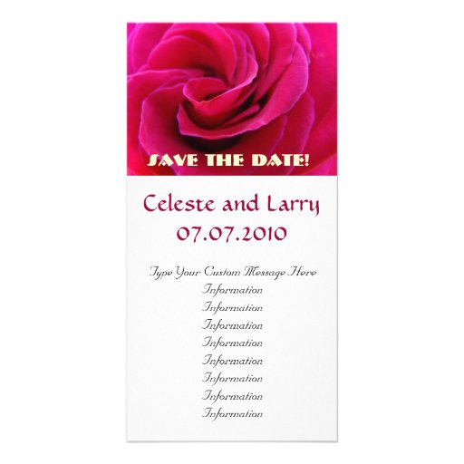 Pink Rose Flower Spiral Save the Date! Cards Picture Card