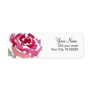Pink Rose Flower Watercolor Design