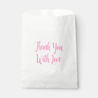 Pink Rose Flower  Wedding, Engagement Party Favour Bags