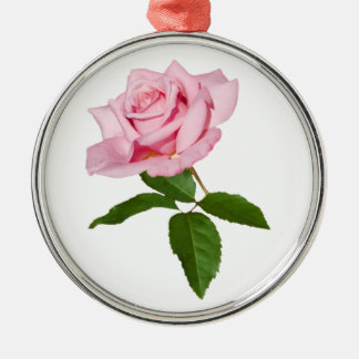 Pink Rose Flower with Dew Drops Customizable Christmas Ornament