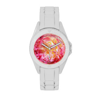 Pink Rose Flowers Fashion Watches Valentines