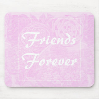 Pink Rose Friends Forever Gift Mousepad