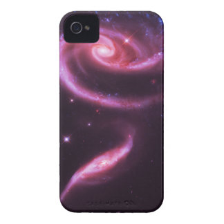 Pink Rose Galaxies iPhone 4 Covers