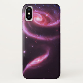 Pink Rose Galaxies iPhone X Case