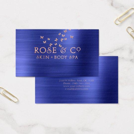 Pink Rose Gold Blush Emerald Cobalt 2 Butterfly
