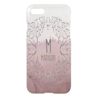 Pink Rose Gold Blush Floral Ombre Luxury Pattern iPhone 8/7 Case