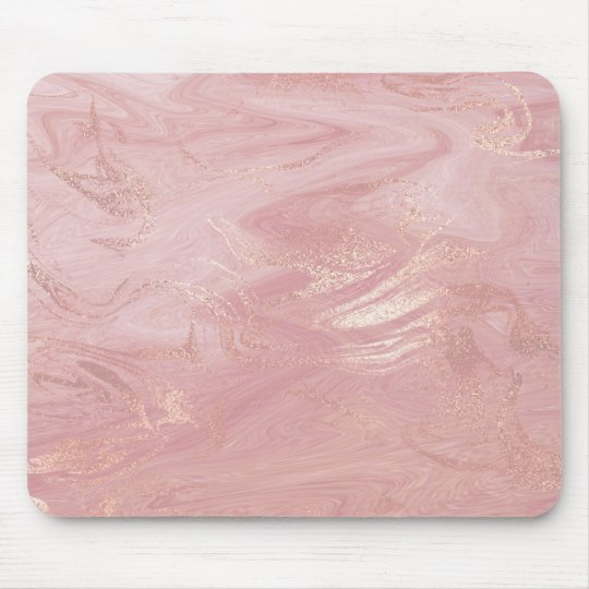 Pink Rose Gold Blush Gold Molten Stone Marble