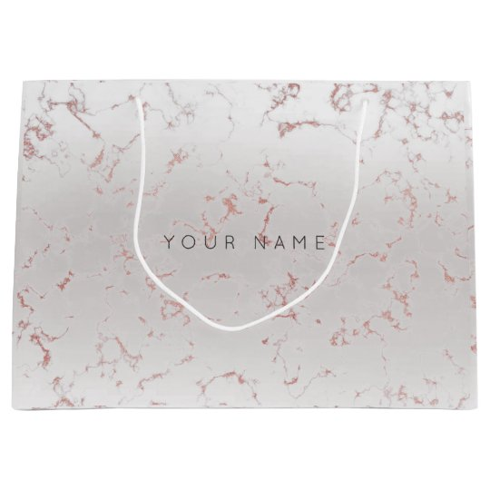 Pink Rose Gold Blush Marble Metallic Gift Gray