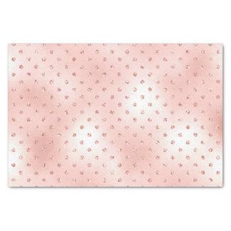 Pink Rose Gold Blush Metallic Crystals Swarovski Tissue Paper