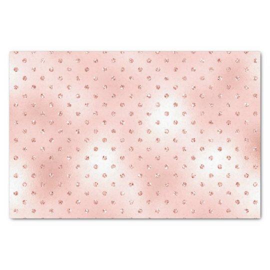 Pink Rose Gold Blush Metallic Crystals Swarovski Tissue
