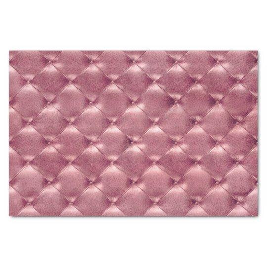 Pink Rose Gold Blush Metallic Tufted Leather Lux