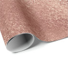 Pink Rose Gold Blush Peach Shiny Glass Powder Wrapping Paper