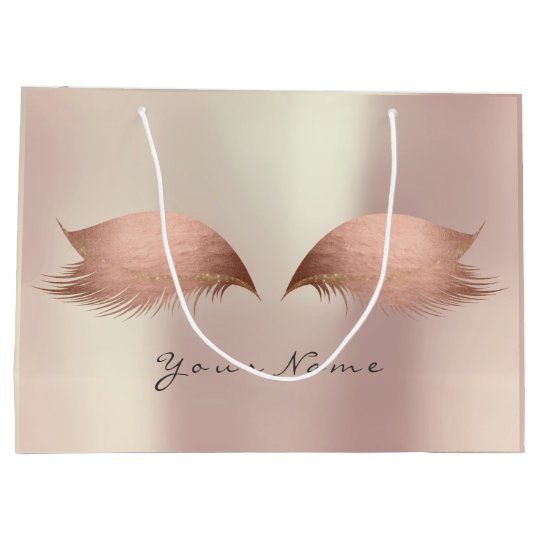 Pink Rose Gold Blush Pearly Lashes Eye Makeup