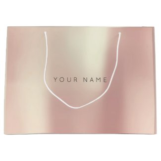 Pink Rose Gold Blush Pearly Minimal Gift Gray