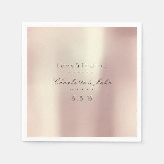 Pink Rose Gold Blush Silk Wedding Bridal Shower