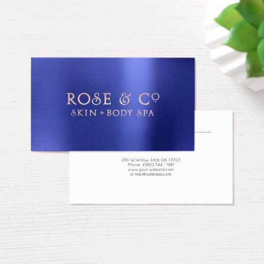 Pink Rose Gold Emerald Blue Appointment Logo Business