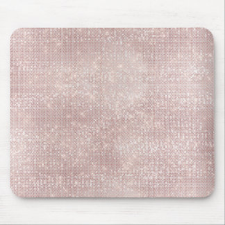 Pink Rose Gold Faux Diamond Metallic Sparkly Vip Mouse Mat