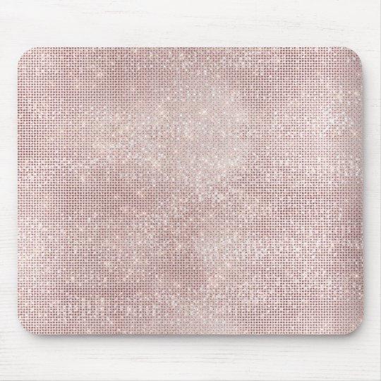 Pink Rose Gold Faux Diamond Metallic Sparkly Vip
