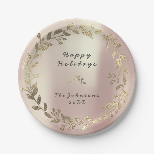 Pink Rose Gold Floral Wreath Blush Silk Bridal
