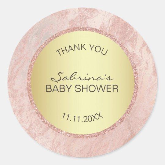 Pink Rose Gold Foil Glitter Baby Shower -