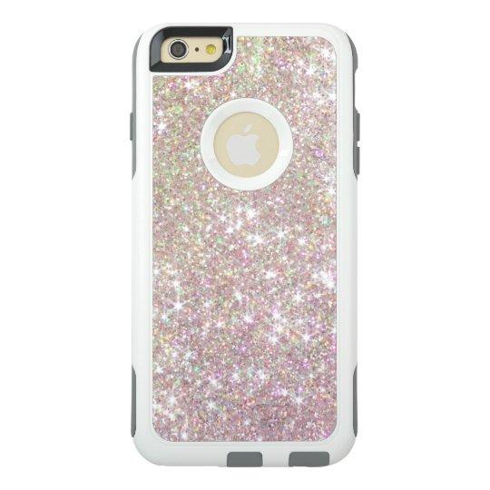 reputable site 48b59 b0e7b Pink Rose Gold Glitter Otterbox iPhone 6 Case