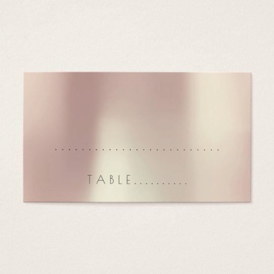 Pink Rose gold Gold Wedding Escort Place Pack