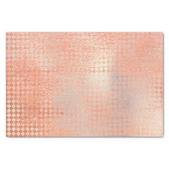 Pink Rose Gold Metallic Blush Peach Coral Tissue