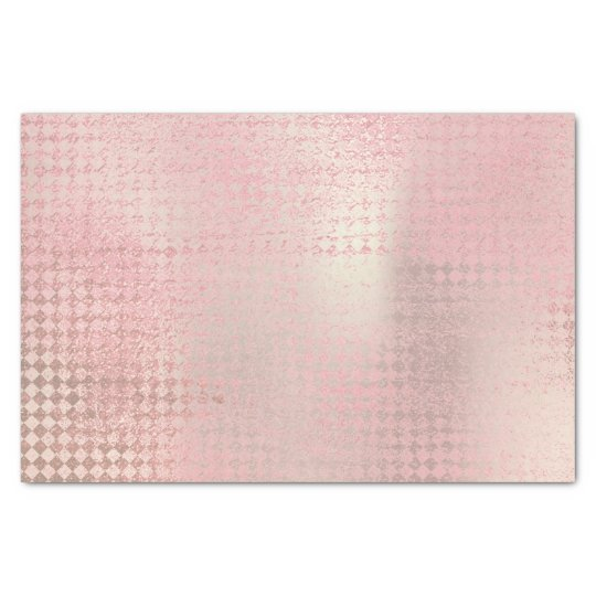 Pink Rose Gold Metallic Silver Diamond Cut Tissue