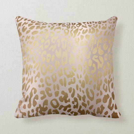 Pink Rose Gold Metallic Steel Leopard Animal Skin