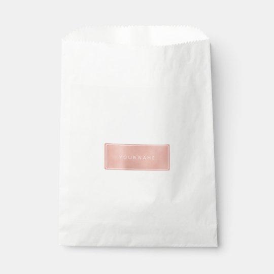 Pink Rose Gold Powder Metallic Minimal Gift Bag