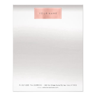 Pink Rose Gold Powder Metallic Stylist Letter Head 11.5 Cm X 14 Cm Flyer