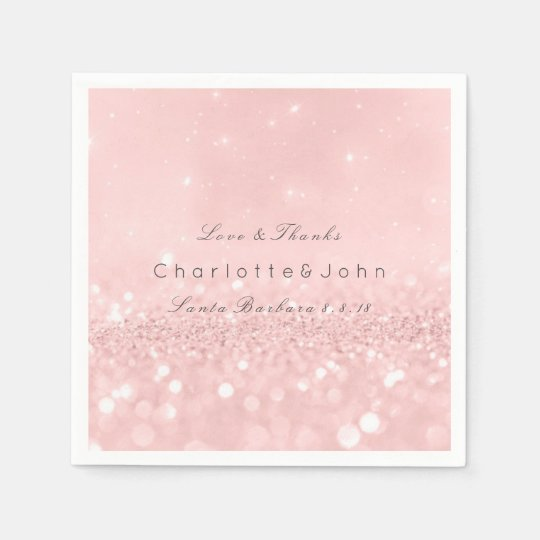 Pink Rose Gold Powder Sparkly Glitter Custom Paper