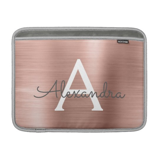 Pink Rose Gold Stainless Steel Monogram Sleeve For