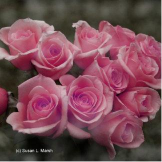 Pink rose group bunch photograph design photo sculpture
