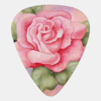 Pink Rose Guitar Pick