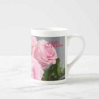 Pink Rose Happy Mothers Day Bone China Mug