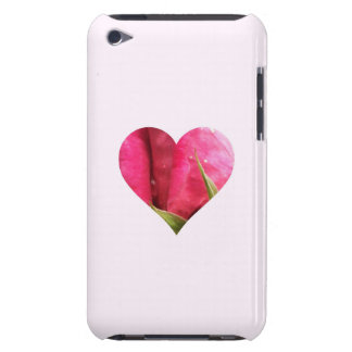 Pink Rose Heart iPod Case-Mate Cases