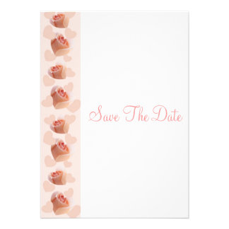 Pink Rose Heart Wedding Save The Date Personalized Invitations