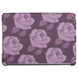 Pink Rose Horizontal Big Pattern on Plum