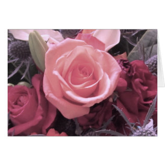 Pink Rose I Love You, Baby Card