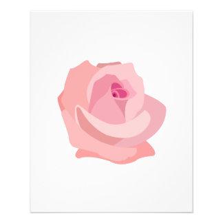 Pink Rose Illustration Flyer